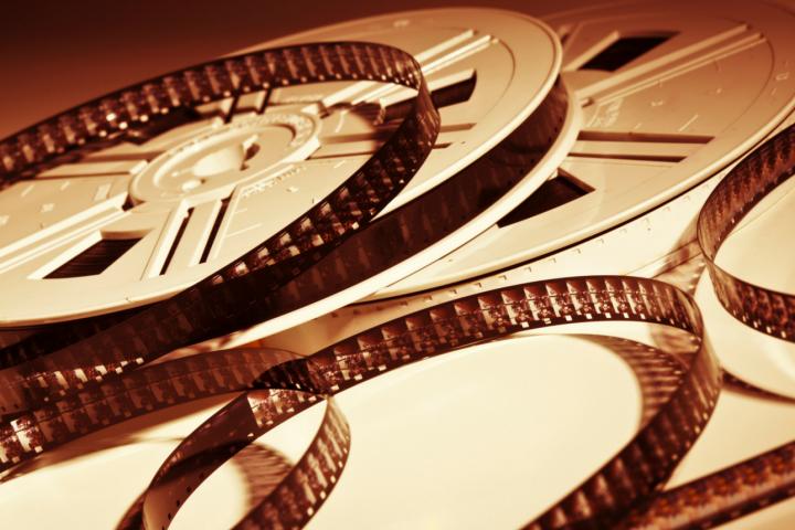 Old-fashioned film rolls