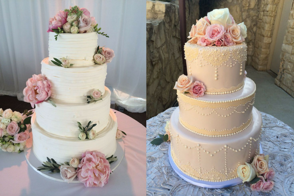 Decadence wedding cakes