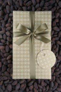 Wrapped gift set from Dandelion Chocolate