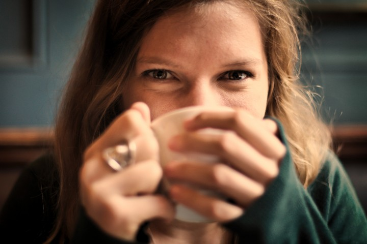 girl drinking coffee ready for summer internship