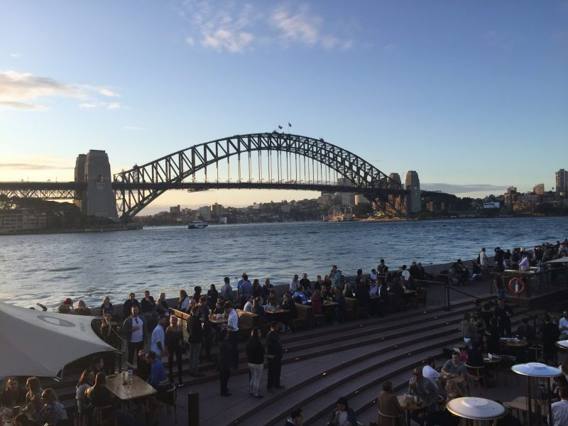 View of Sydney Harbour Bridge and Sydney Harbour