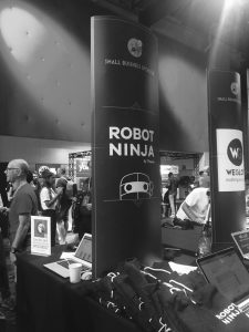 Robot Ninja Hoodies on booth