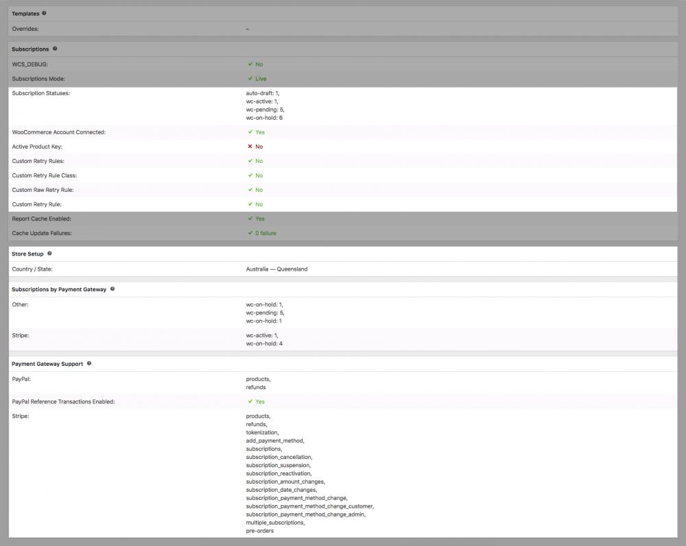 Screenshot system status